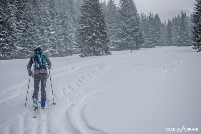 Skitura reglowa w Tatrach.