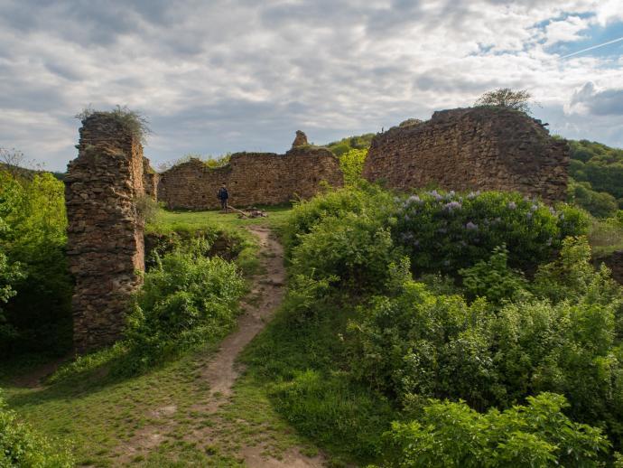 Ruiny zamku Oparno.