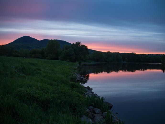 Zachód słońca nad Łabą.