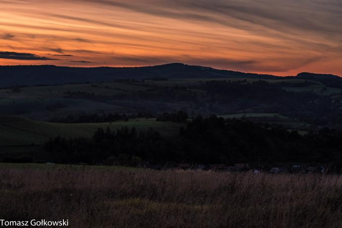 Zachód słońca nad Kopystańką
