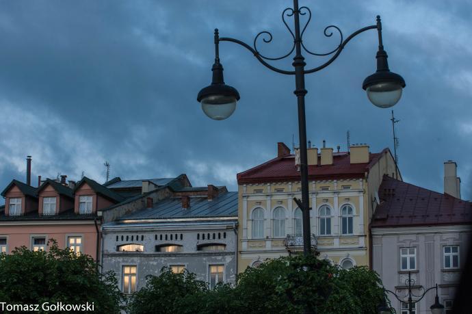 Rynek w Przemyślu. Fragment pierzei wschodniej