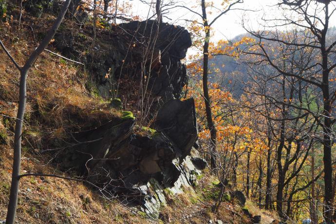 Karolinki - jedna z pierwszych skalnych wychodni.