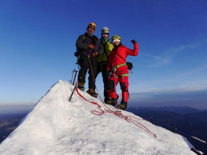 Na szczycie Huayna Potosi