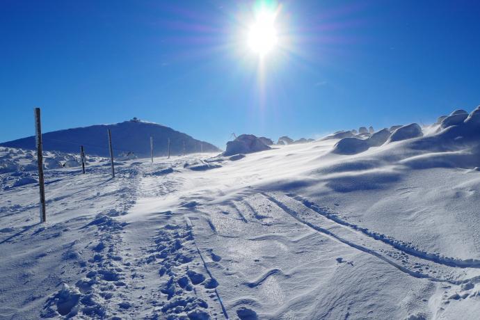 Śląska Droga była niegdyś najpopularniejszą trasą wejściową na Śnieżkę.
