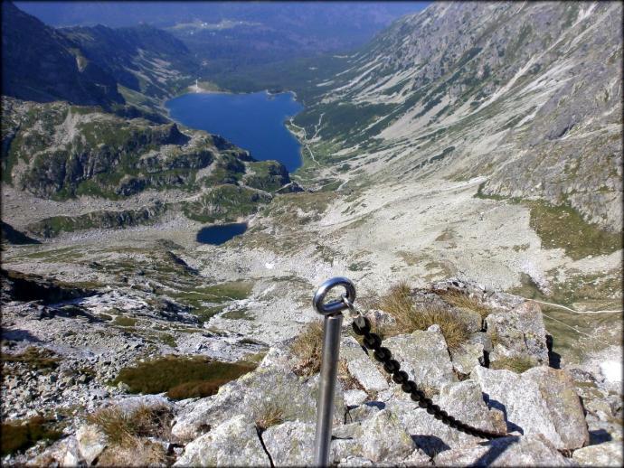 Orla Perć - widok z podejścia na Kozie Czuby