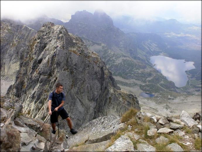 Orla Perć - widok z kominka pod Kozim Wierchem