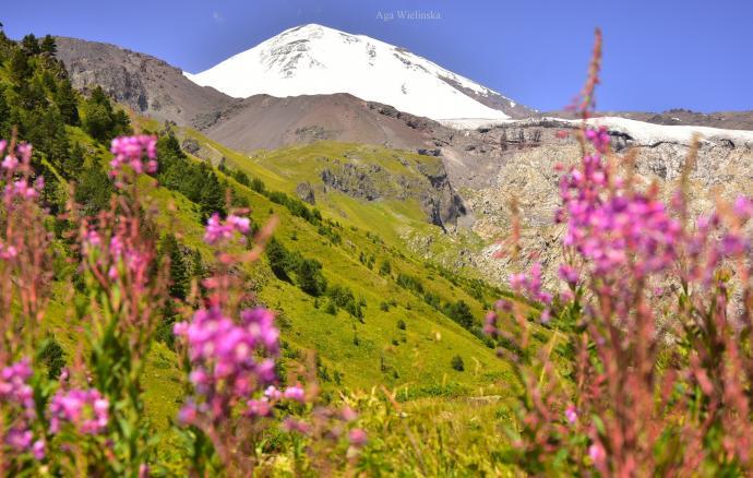 Elbrus z Wąwozu Terskolskiego.