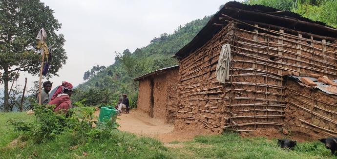 Ostatnie chaty przy szlaku