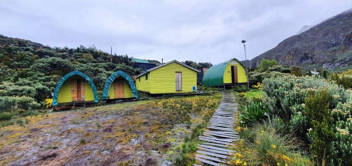 Obóz Hunwick's Camp 3974m n.p.m.