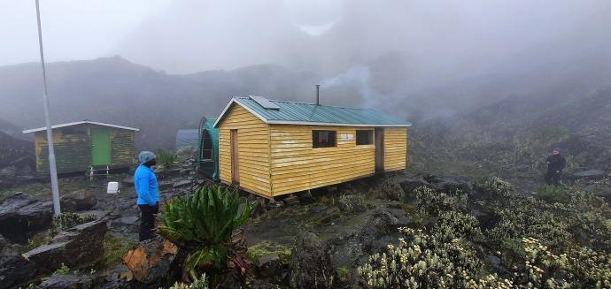 Obóz Margherita Camp 4485m n.p.m.