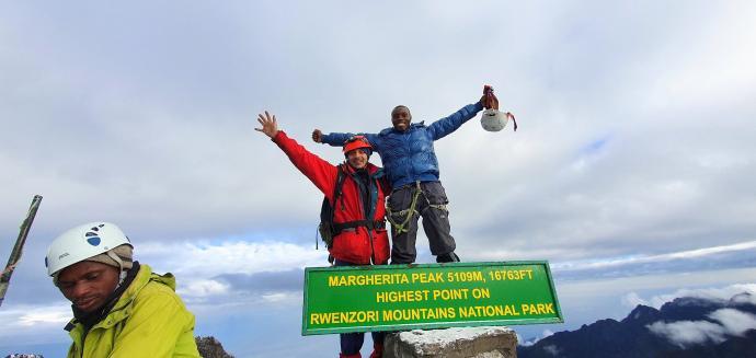 Na Margherita Peak 5109m n.p.m.