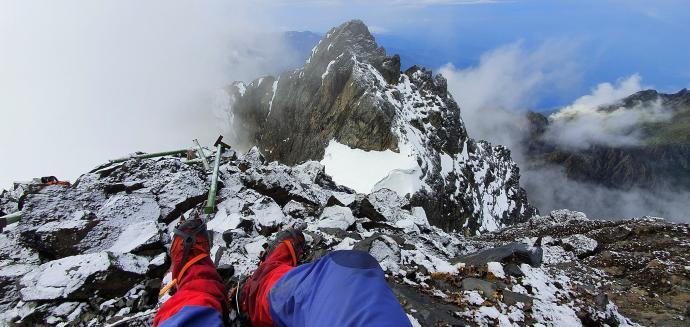 Widok ze szczytu Margherita