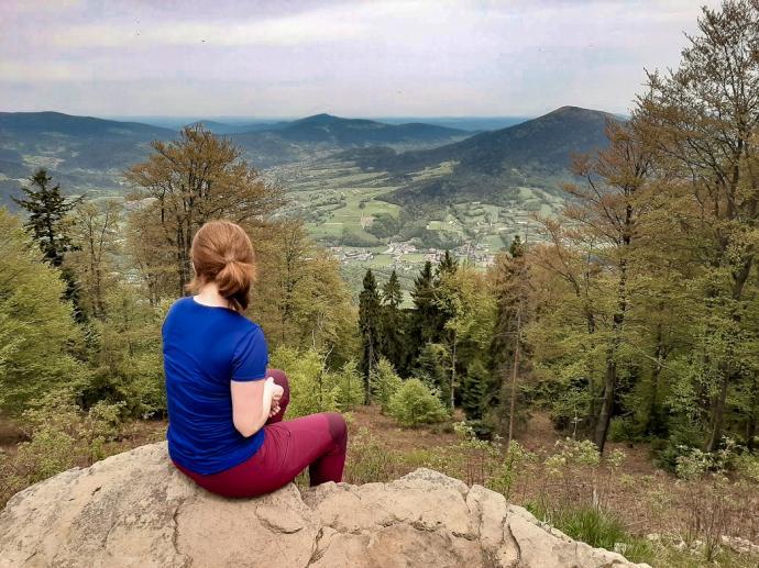 Szczebel - widok ze szczytu
