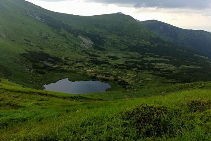 Jezioro Niesamowite. Tu zaplanowaliśmy kolejny nocleg na naszej trasie.