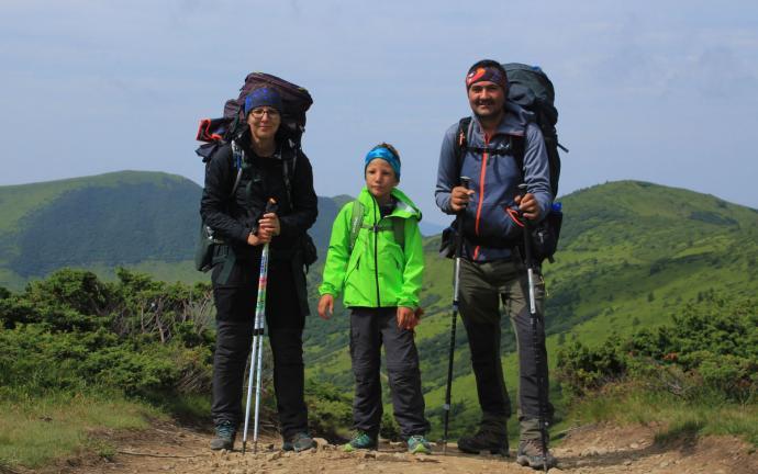 Uczestnicy wyprawy: Mama, Tata i Miłosz - najważniejszy, nasz syn. To dla niego to wszystko!