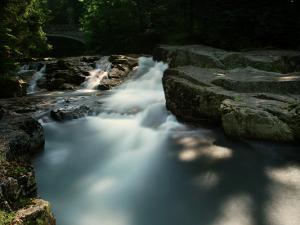 U Dívcí lávky miejsce gdzie schodzą się dwa główne potoki źródłowe Łaby