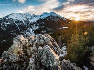 Zachód słońca na Gęsiej Szyi