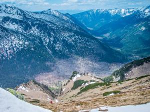 Cicha Dolina z Pośredniego Wierchu Goryczkowego