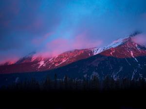 Zachód słońca z Hali Gąsienicowej
