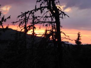 Krwisty zachód słońca