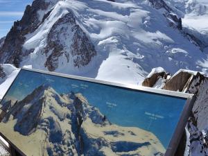 Widok z Aiguille Du Midi na Mont Blanc