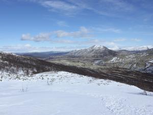 widok na polodowcową dolinę