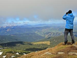 patrząc spod Iwana na Alpy Rodniańskie