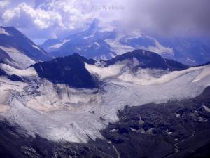 Panorama Wysokiego Kaukazu.