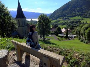 Widok z Col de la Forclaz
