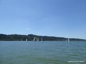 Regaty na Jeziorze Czorsztyńskim - żagle w górach - raj istnieje! :)