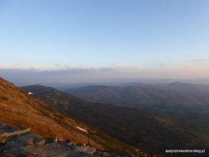 Widok na zachód ze stoków Babiej Góry
