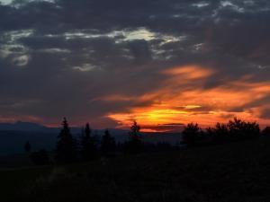 zachód słońca na Łapszance
