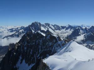 Widok z Aiguille du Midi, Alpy Francuskie