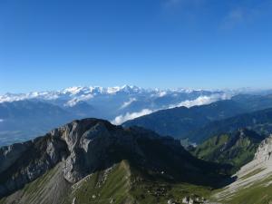Widok z Pilatusa, Alpy Berneńskie