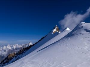 Nordend z przełęczy Silbersattel.