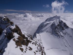 Na szczycie Dufourspitze - najwyższego szczytu Szwajcarii.