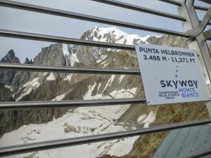 Mont Blanc z Punta Helbronner