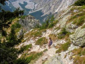 Zejście z Mont Chetif