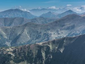 Panorama Tatr ze szczytu Wołowca