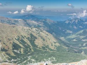 Panorama Tatr z Jarząbczego Wierchu