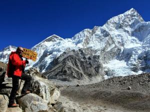Droga do Everest Base Camp.To właśnie z EBC zaczyna się wspinaczka na szczyt Mt.Everestu