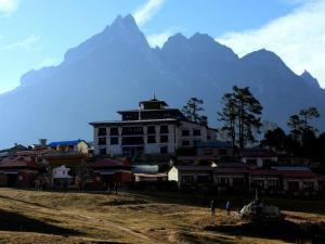 Wioska Tengboche, w centrum buddyjski klasztor.Wioska to jedno z naszych ulubionych miejsc na szlaku do Everest Base Camp