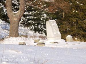 """Obelisk upamiętniający śmierć partyzantów z radzieckiego oddziału lejtnanta Aleksieja Botiana """"Aloszy"""""""