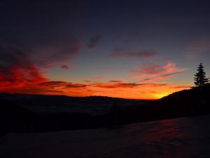 widok z przełęczy Brona