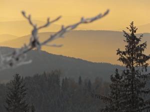 Zachód słońca nad Dzikowcem.
