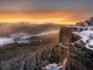 Zachód Słońca na Szczelińcu