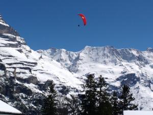 Szwajcarski Jungfrau, widok z miejscowości Murren