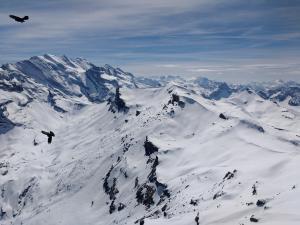 Widok ze szczytu Schilthorn, 3000 m n.p.m.