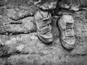 Trudy wędrówki dzielnie znoszą małe stopy (Tarnica)