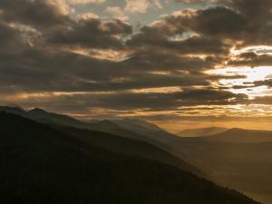 Nosal zachód słońca